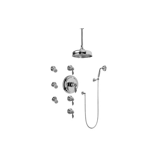 Topaz Thermostatic Set w/Body Sprays & Handshower (Rough & Trim)