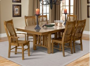 """Trestle Table With 2-16"""" Leaves"""