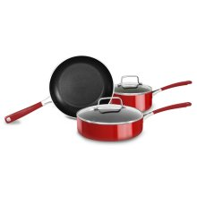 Professional Hard Anodized Nonstick 5-Piece Set - Empire Red