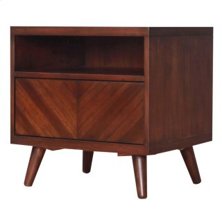 Piero Chevron Night Stand/SideTable, Java