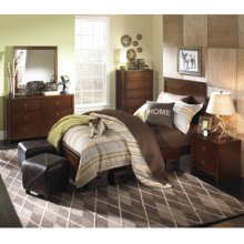 New Albany 5-Pc. Full Bedroom Set - Full Panel Bed, 6-Drawer Dresser, Mirror, Nightstand, 5-Drawer Chest