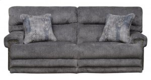 Power Headrest Lay Flat Recl Sofa w/Ext Ottoman