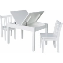 Mission Lift Top Storage Table and Chairs in White Product Image