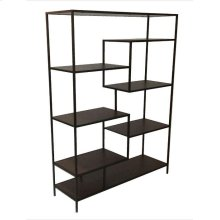Modern Black Metal Bookcase