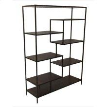 Modern Black Metal Bookcase