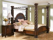 North Shore - Dark Brown 5 Piece Bed Set (Cal King)