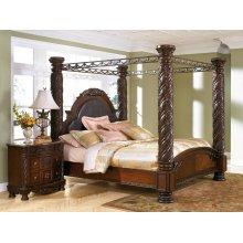 North Shore - Dark Brown 5 Piece Bed Set (Cal King)