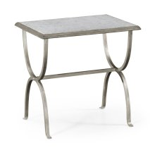 glomise & Silver Iron Rectangular Side Table