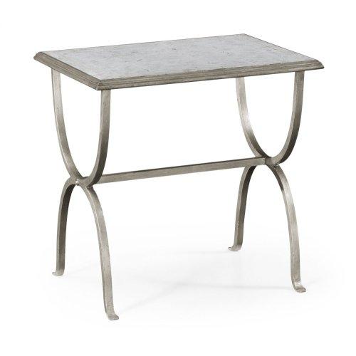glomise & Silver Iron Rectangular Side Table