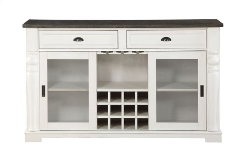 "Joanna Two Tone Kitchen Cart 50.5""x28.5""x36.5"""