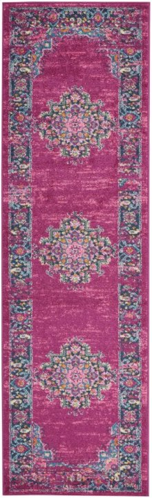 Passion Psn03 Fuchsia Runner 2'2'' X 7'6''
