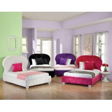 White Uph Hb/fb, W/pillows, 4/6