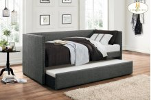Daybed with Trundle, Gray