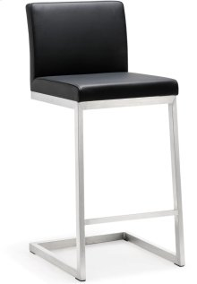 Parma Black Stainless Steel Counter Stool - Set of 2