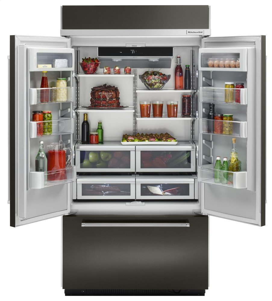 Kitchenaid 20 8 Cu Ft 36 Width Built In Stainless Steel French Door Refrigerator