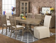 Slater Mill Double Pedestal Dining Table- Top Only, Slater Mill Double Pedestal Dining Table- Double Pedestal Base Only