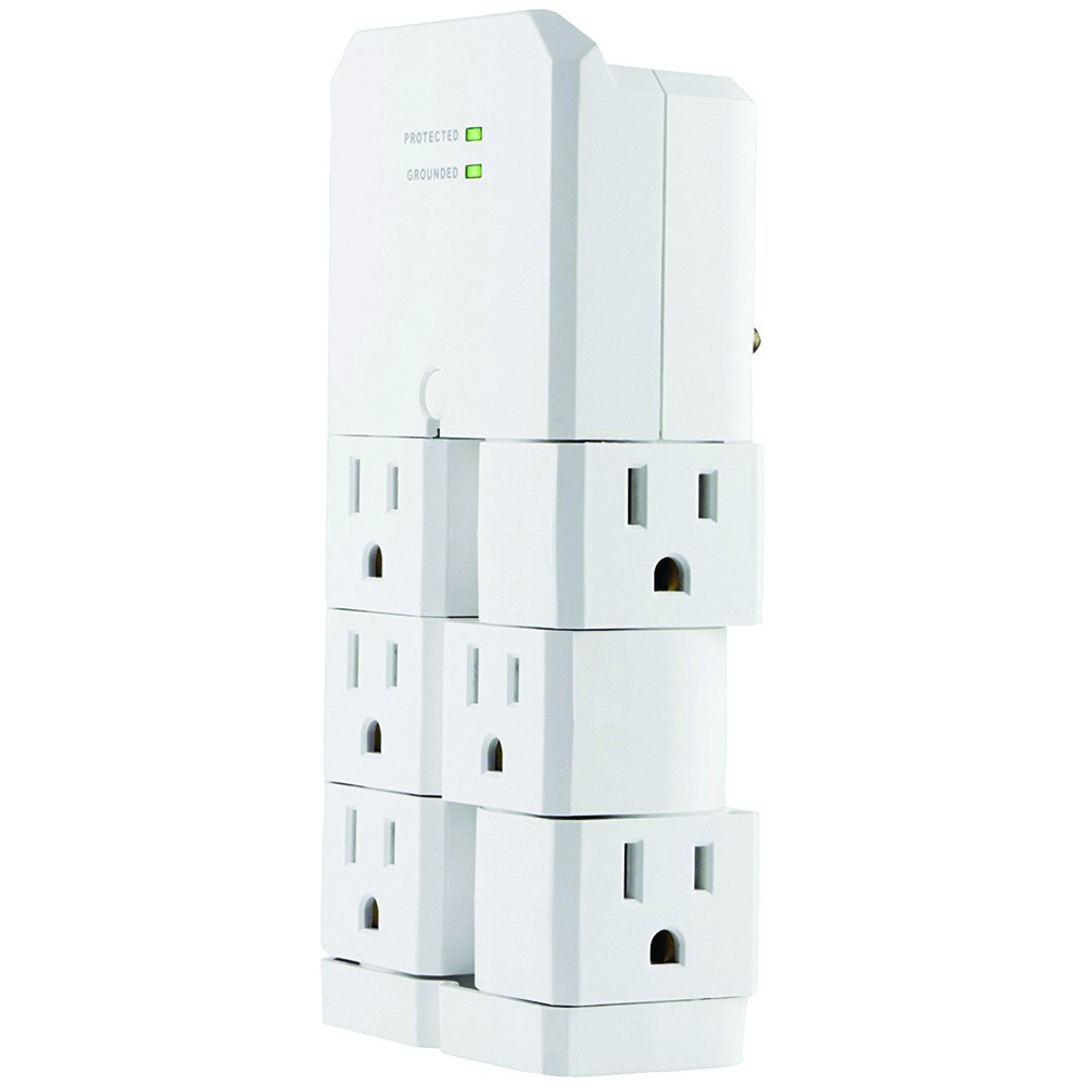 6-Outlet Rotating Surge Protector Wall Tap