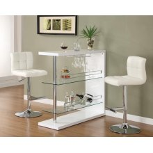 Two-shelf Contemporary Bar Unit With Wine Holder
