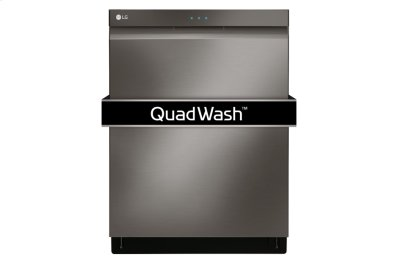 LG Black Stainless Steel Series Top Control Dishwasher with QuadWash and EasyRack Plus Product Image