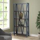 Americana Modern Denim Etagere Bookcase Product Image
