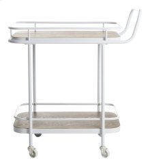 Gaia 2 Tier Rectangle Bar Cart - Rustic Oak / White