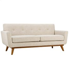 Engage Upholstered Fabric Loveseat in Beige
