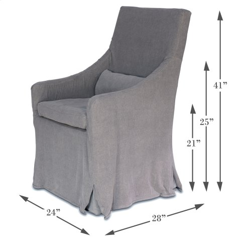 Skirted Arm Chair