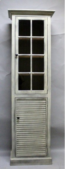 "#610 Nantucket 1 Door Cupboard 23.75""wx13.75""dx78""h"