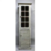 """#610 Nantucket 1 Door Cupboard 23.75""""wx13.75""""dx78""""h"""