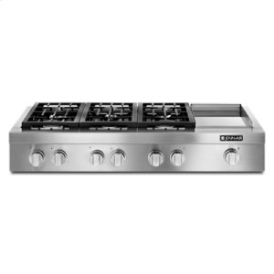"Jenn-AirPro-Style® 48"" Gas Rangetop with Griddle"