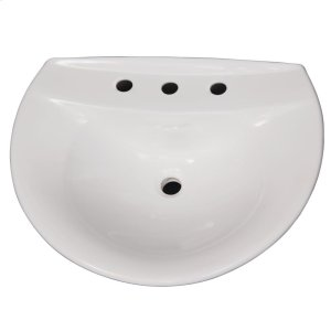 Venice 650 Pedestal Lavatory - White Product Image