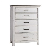 Traditional Rustic Latte and Vintage White Chest