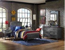 Urban Quarters Panel Bed Set - Twin