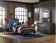 Urban Quarters Panel Bed Set - Twin