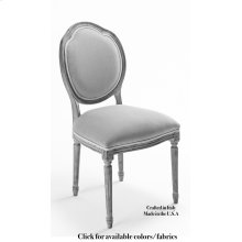 Louis Xvi Round Side Chair Frame,Leather