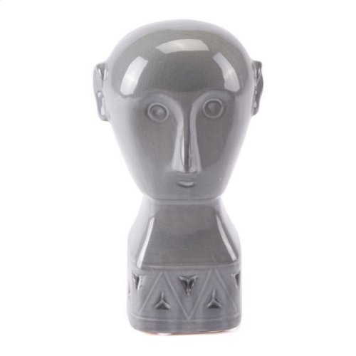 Maya Figurine Sm Gray