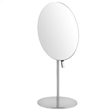 Free standing pivotable magnifying mirror