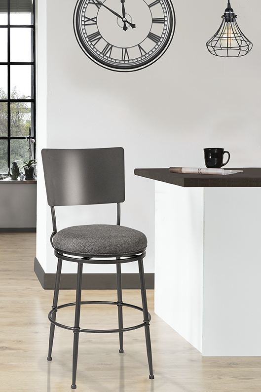 Superieur Towne Commercial Grade Swivel Bar Stool