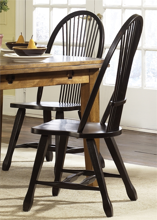 Exceptionnel 17C4032 In By Liberty Furniture Industries In West Branch, MI   Sheaf Back  Side Chair   Black