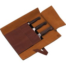 ZWILLING J.A. Henckels TWIN 1731 4-pc Leather Knife Roll Set