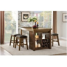 Brindle Counter Height Dining Room Set: Table & 4 Stools