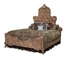 Queen Panel Bed w/Brown Fabric Product Image