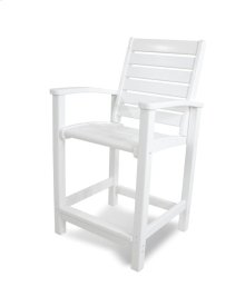White Signature Counter Chair