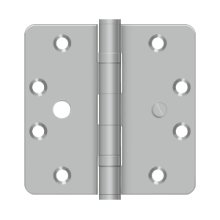"4 1/2""x 4 1/2""x 1/4"" Radius Hinge - Brushed Stainless"
