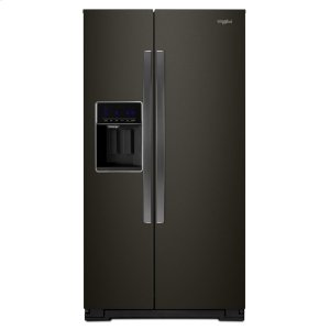 36-inch Wide Counter Depth Side-by-Side Refrigerator - 21 cu. ft. - FINGERPRINT RESISTANT BLACK STAINLESS
