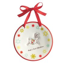 """Reindeer """"Baby's First Christmas"""" Ornament"""