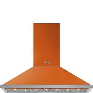 """Smeg48"""" Portofino Chimney Hood, Orange"""