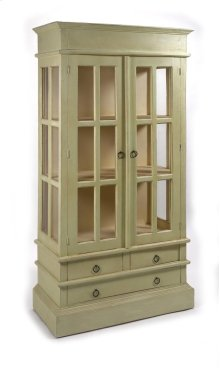 Heritage Wood and Glass Cabinet