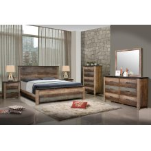 Sembene Bedroom Rustic Antique Multi-color Eastern King Bed