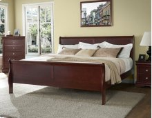 "Orleans King Bed Rails & Slats, Cherry, 74""x2""x5"""